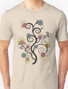 Swirly Flower Tree T-Shirt