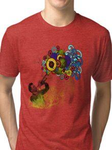 Funky Trumpet Player Tri-blend T-Shirt