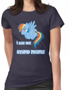 Stupid people Womens Fitted T-Shirt