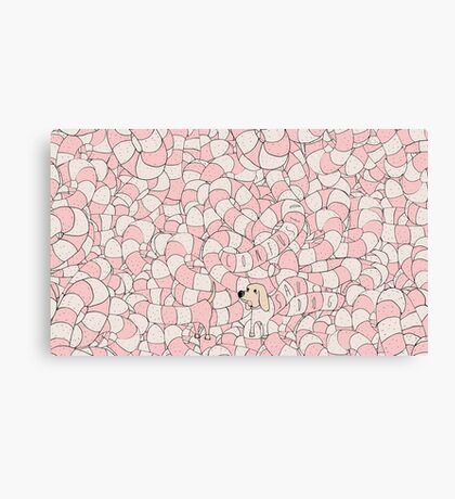 Sausage Dog Pattern Canvas Print