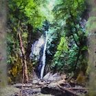 Small Falls #3 (painted panorama) by James Zickmantel