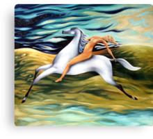 rider-across the landscape Canvas Print
