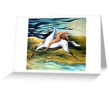 rider-across the landscape Greeting Card