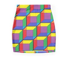 Rainbow Cubes Mini Skirt