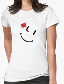 Watchmen bloody smiley  Womens Fitted T-Shirt