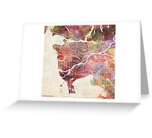 Vancouver map Greeting Card