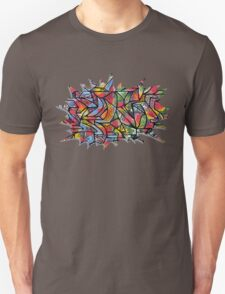 Serif Explosion (Walls Notebook) Unisex T-Shirt