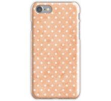 Coral Soft White Tiny Dots iPhone Case/Skin