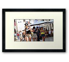 Lily in Dubrovnik - 4 Framed Print