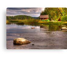 Trout river Canvas Print