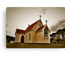 St Mary's Anglican Church, Mamaranui. Canvas Print