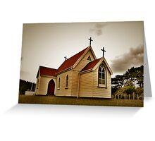 St Mary's Anglican Church, Mamaranui. Greeting Card