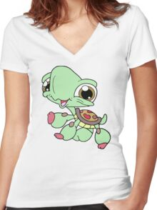 Littlest Pet Shop Turtle Women's Fitted V-Neck T-Shirt