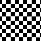 chequards,  black and white squares by ALIANATOR