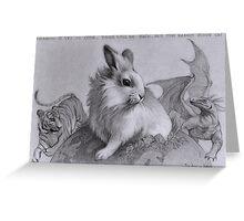 The Brave Rabbit Greeting Card