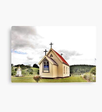 St Mary's Anglican Church, Mamaranui, NZ. Canvas Print