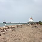 Fairport Harbor West Breakwater Lighthouse by Karl R. Martin