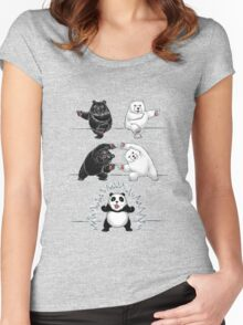 The fusion of panda  Women's Fitted Scoop T-Shirt