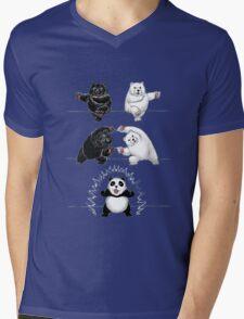 The fusion of panda  Mens V-Neck T-Shirt