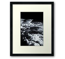Aerial sea of fluffy white clouds. Framed Print