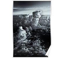 Sea of high noon fluffy white clouds Poster