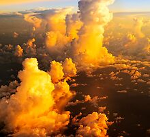 Sea of fluffy white clouds by Amyn Nasser