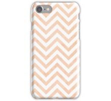 White Peach Chevrons iPhone Case/Skin