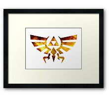 Galaxy Zelda Triforce Framed Print
