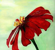 A Red Flower in Sharona's Dreams by Anne Gitto