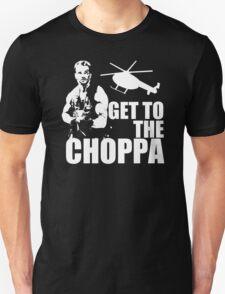 Get to the Choppa Funny Arnold Predator T-Shirt