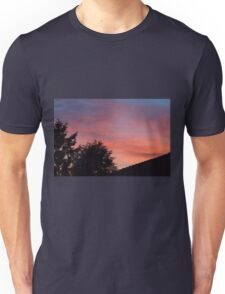 sunset at the countryside Unisex T-Shirt