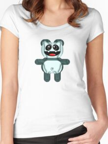 PANDA 3 Women's Fitted Scoop T-Shirt