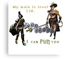 My main could Pwn you runescape Canvas Print