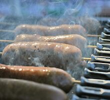 Sausages on Turning Skewers by NicolaDiRodd