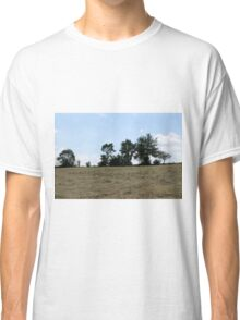 countryside landscape with hay Classic T-Shirt