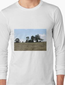 countryside landscape with hay Long Sleeve T-Shirt