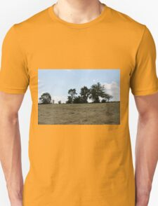 countryside landscape with hay T-Shirt