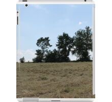 countryside landscape with hay iPad Case/Skin