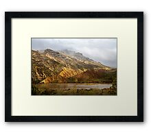 Split Mountain Rain Framed Print