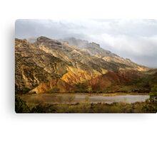 Split Mountain Rain Canvas Print