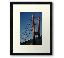 Walk Bridge Barwon River Geelong Framed Print