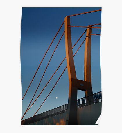 Walk Bridge Barwon River Geelong Poster