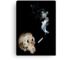 Smoke, Choke, Croak Canvas Print