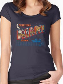 Greetings from Miami Women's Fitted Scoop T-Shirt