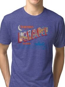 Greetings from Miami Tri-blend T-Shirt