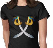Two Crossed Pirate Cutlass- Womens Fitted T-Shirt