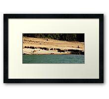 Strange Layers of Natural Erosion Framed Print