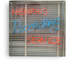 Memphis Recording Service Canvas Print