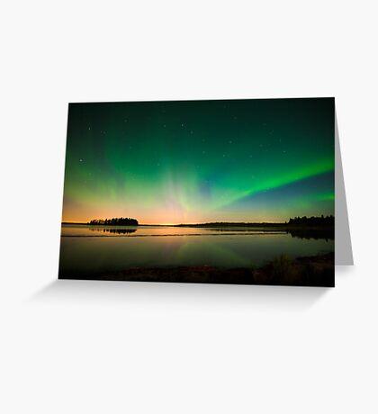 Northern Lights - Elk Island National Park (Edmonton, AB Canada) Greeting Card