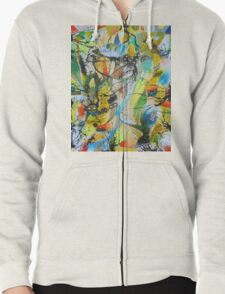 See Through The Confusion Zipped Hoodie